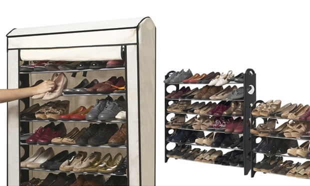 meuble chaussures 30 ou 50 paires groupon shopping. Black Bedroom Furniture Sets. Home Design Ideas