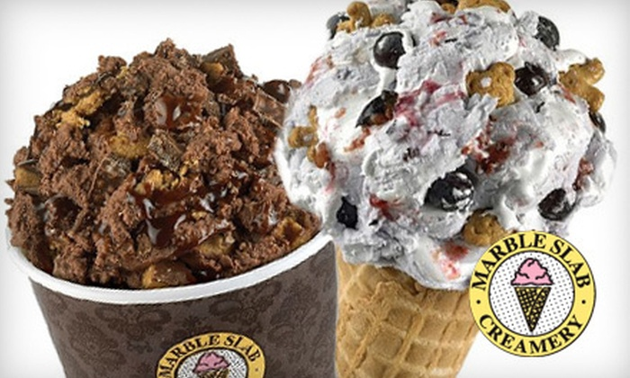Marble Slab Creamery - Multiple Locations: $6 for $12 Worth of Ice Cream and Frozen Yogurt at Marble Slab Creamery