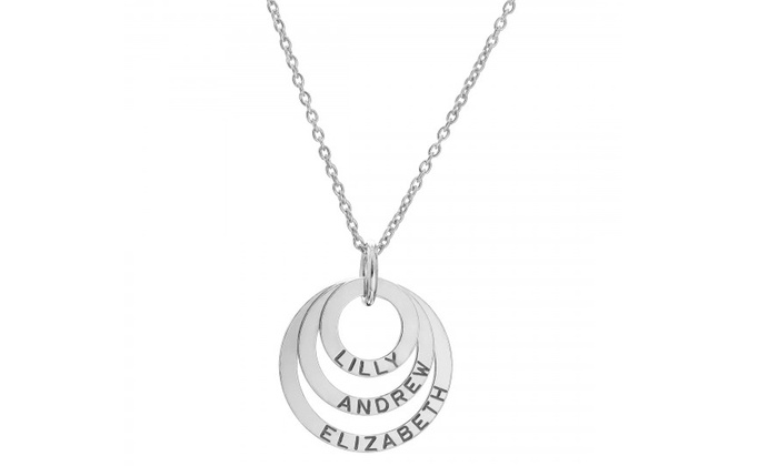 SilvexCraft Design: Sterling Silver Personalized Triple Ring Necklace With Free Delivery from SilvexCraft Design (Up to 80% Off)