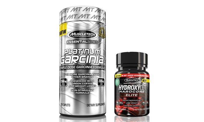 30 Day Supply Of Muscletech Platinum Garcinia Plus With Free Trial Size Hydroxycut Hardcore Elite