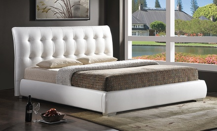 Baxton Studio Tufted Upholstered Platform Bed.