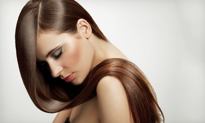 Hair Play Salon - Castro: Haircut and Color Gloss Treatment, or Full Keratin Blowout at Hair Play Salon (Up to 57% Off)