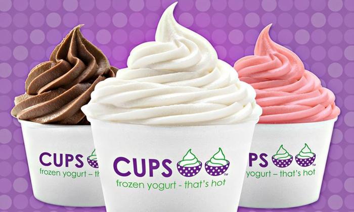 Cups Frozen Yogurt - Hillsborough: One, Three, or Five Groupons, Each Good for $4 Worth of Frozen Yogurt at Cups Frozen Yogurt (50% Off)