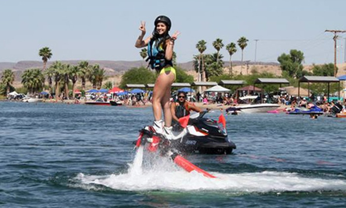 Aquaflyboarding USA - Bluewater Resort and Casino: 20-Minute Flyboard Flight for One or Two at Aquaflyboarding USA (Up to 60% Off)