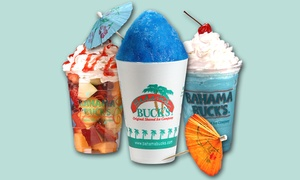 Bahama Bucks: Shaved Ice and Smoothies or Shaved-Ice Party Pack at Bahama Buck's (Up to 50% Off). Three Options Available.