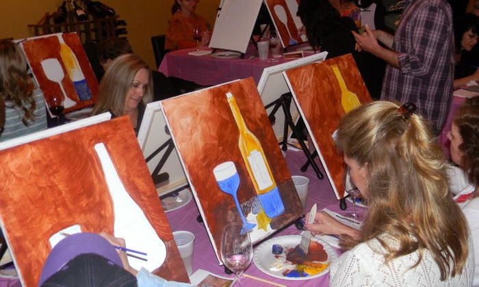 Paint & Sip Studio LA - Mid-Wilshire: BYOB Painting Class for One or Two at Paint & Sip Studio LA (43% Off)
