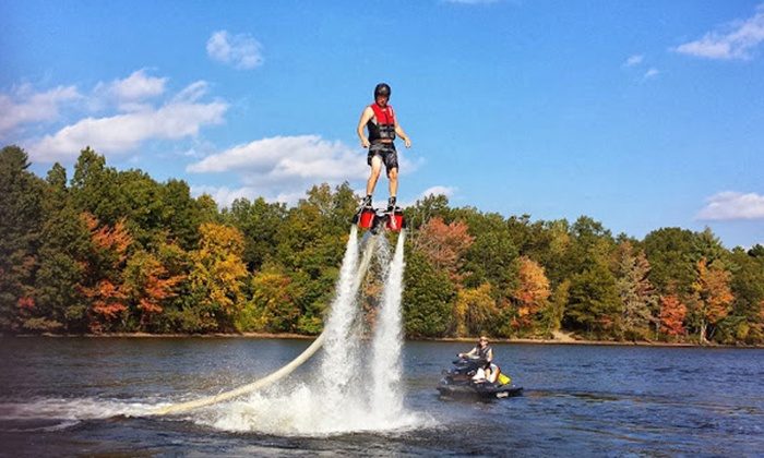 We Deliver Water Sports - Houston: $149 for a Flyboard Lesson with Equipment Rental and Delivery from We Deliver Watersports ($299 Value)
