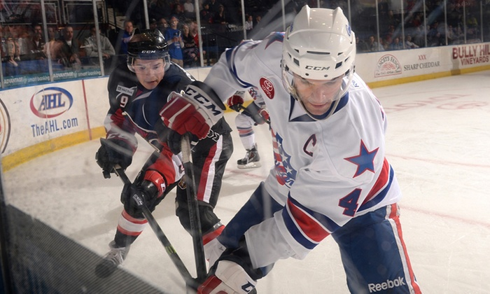 Rochester Americans - Blue Cross Arena: $15 for Premium 100-Level Seats to a Rochester Americans Home Game on February 14, 22, or 25 ($30.65 Value)