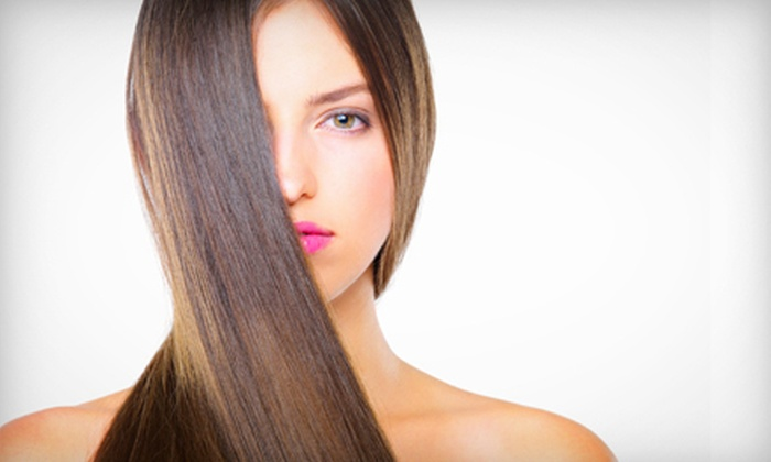 Salon Charisse - Haverford: Haircut and Partial Highlights or One or Two Express Keratin Treatments at Salon Charisse (Up to 66% Off)