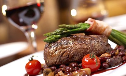 image for 10oz Sirloin Steak with Chips and Wine for Two or Four at Skylark Golf and Country Club (Up to 44% Off)