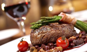 The Rotisserie: Steaks, Burgers, and Other Upscale Pub Fare at The Rotisserie (50% Off). Three Options Available.