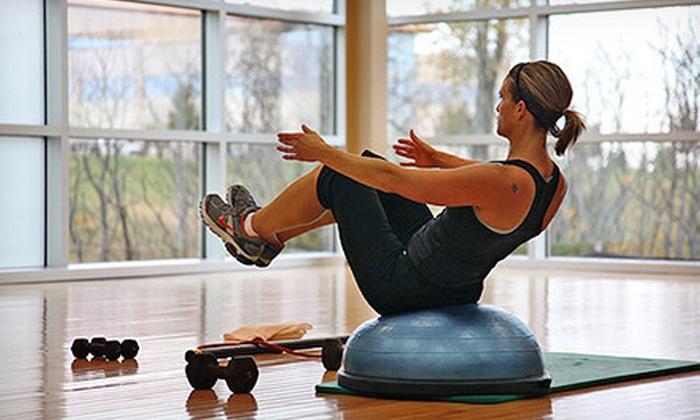 HealthRidge Fitness Center - Corporate Ridge: Gym Membership with Massage and Optional Boot-Camp Classes at HealthRidge Fitness Center and Spa (Up to 75% Off)