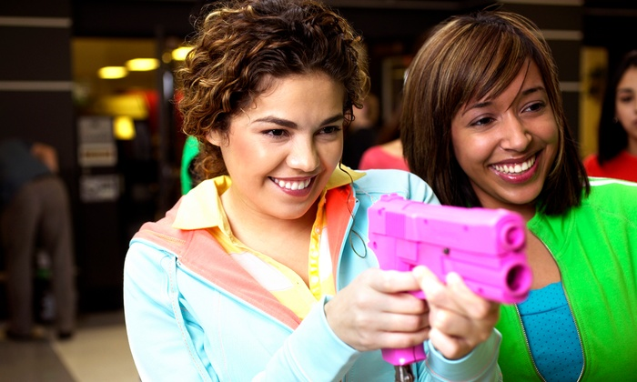 Lazer X - Arden - Arcade: $20 for Laser Tag for Up to Four with Drinks and Arcade Credits at Lazer X (Up to $77 Value)