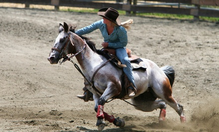 One or Two 60-Minute Horseback Barrel-Racing Lessons at Towne Lake Equestrian Club (Up to 51% Off)