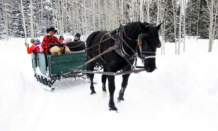 Blue Sky Adventures - Wanship: Wagon or Sleigh Ride with Coco or Cider for Two, Four, Six, or Ten at Blue Sky Adventures (Up to 55% Off)