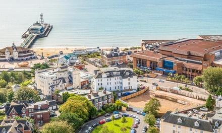 Bournemouth: 1 or 2 Nights for Two with Breakfast, Leisure&Spa Access and Option for Dinner and Wine at Royal Bath Hotel
