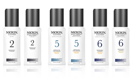 2pk Travel-Size Nioxin Duo Hair-Thickening System