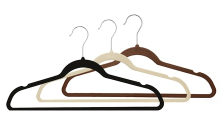 50-Pack of Velvet Garment Hangers