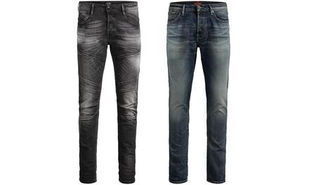 Jeans homme Jack&Jones délavés, bleu ou noir