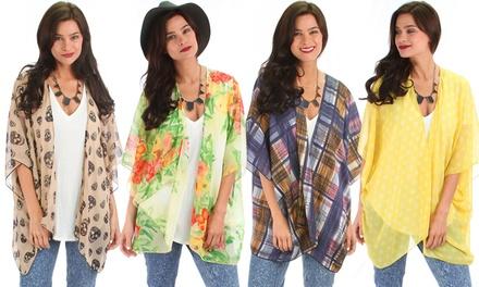 Lyss Loo Women's Easy Breezy Kimono Cardigan