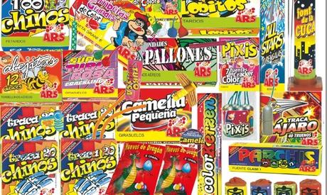 Pack de petardos pequeño, mediano o grande desde 14,99 € en Pirotecnia Fiesta Oferta en Groupon