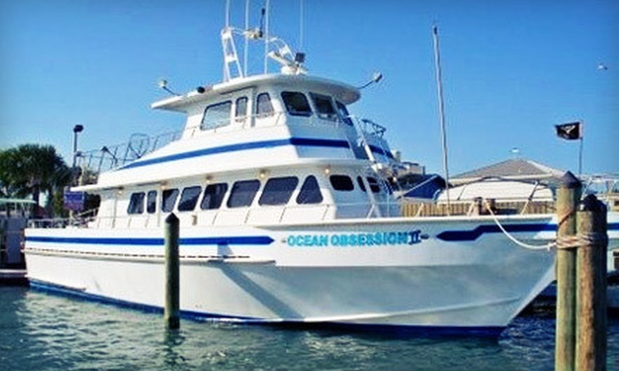 Obsession Charters - Cape Canaveral: Half- or Full-Day Fishing Trip with a Restaurant Voucher from Obsession Charters (Up to 55% Off)