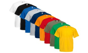 10er-Pack Fruit Of The Loom T-Shirts mit Rundhalsausschnitt