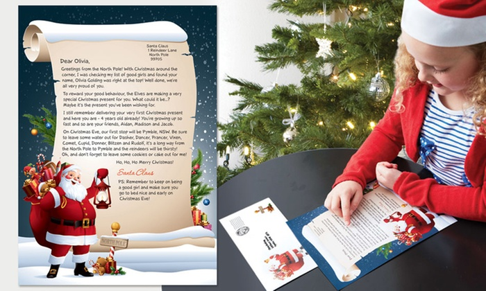 personalised letter from santa groupon