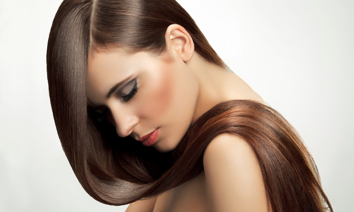 By His Grace Barber Shop - Brightwood - Manor Park: Keratin Treatment or Brazilian Blowout with or without Haircut at By His Grace Barber Shop (Up to 70% Off)
