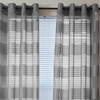 Lavish Home Semi-Sheer Grommet Panel Pair