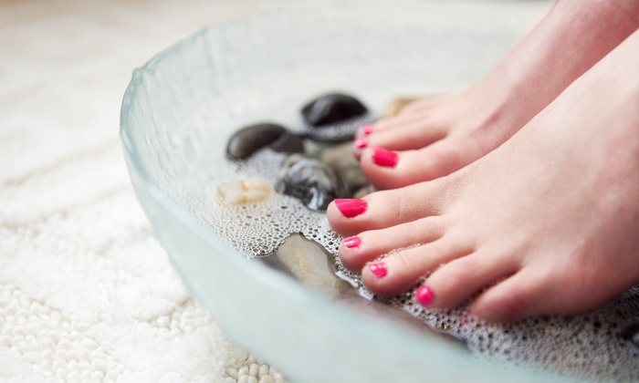 Vivian's Nail Boutique - West Glen Community Association: Deluxe Mani-Pedi for One or Two at Vivian's Nail Boutique (58% Off)