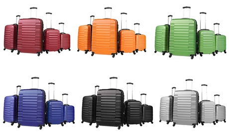 Set de 4 maletas trolley disponible en varios colores por 129,99 €