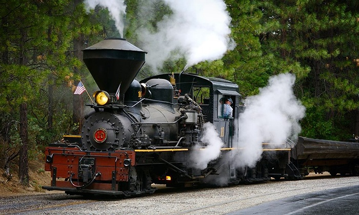 Yosemite Mountain Sugar Pine Railroad - Fish Camp: 2 or 4 Tickets to Ride Logger Steam Train Monday–Friday at Yosemite Mountain Sugar Pine Railroad (Up to 49% Off)