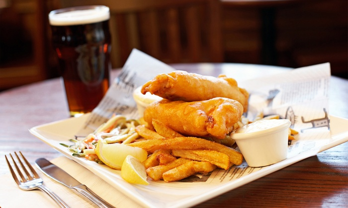 Dublin City Pub - Oakhill Jackson: Irish–Style Pub Food for Two or Four at Dublin City Pub (40% Off)