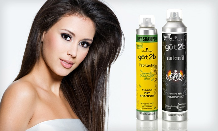 Got2b Dry Shampoo and Hairspray Duo: $8 for a Got2b Dry Shampoo and Hairspray Duo ($13.98 List Price)