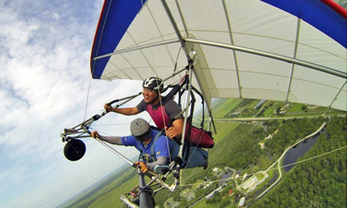 The Florida Ridge Sports Air Park - The Florida Ridge Sports Air Park: Tandem Hang-Gliding Flight Package for One or Two at The Florida Ridge Air Sports Park (Up to 62% Off)