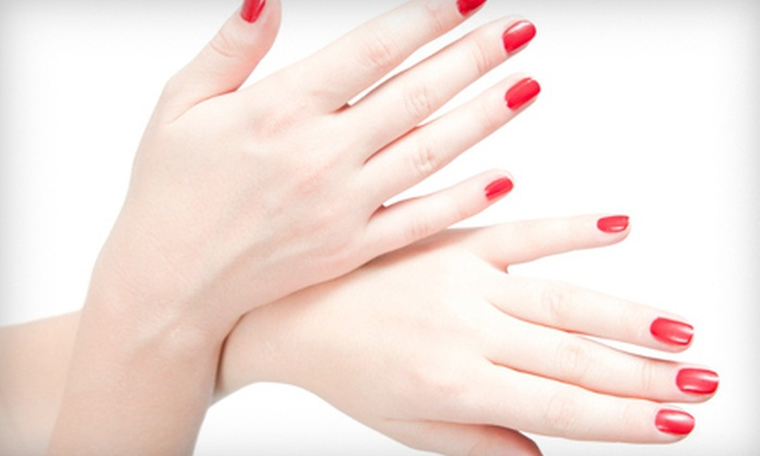 Salon Brio - Clemmons: Shellac Manicure, or Spa Mani-Pedi with Take-Home Polish or Moisturizer at Salon Brio in Clemmons (Up to 60% Off)