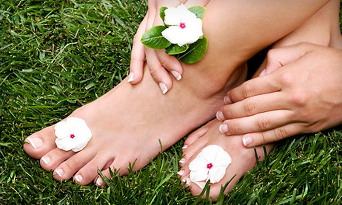 Starz Salon Spa - Billings Bridge - Alta Vista: Shellac Mani-Pedi with Optional Mini Facial at Starz Salon Spa (Up to 53% Off)
