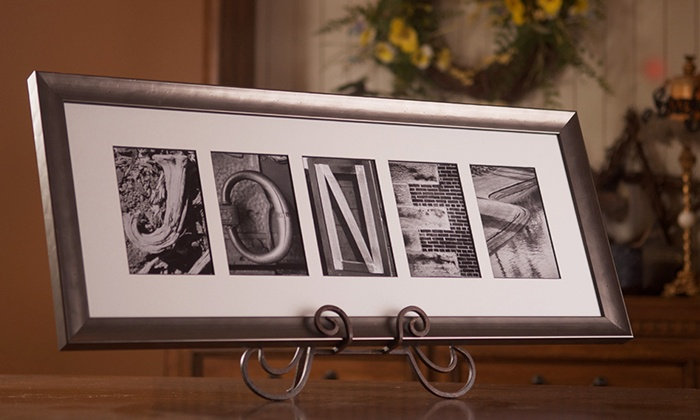 Sticks and Stones: $59.99 for $139.99 Worth of Custom Alphabet Photography in a Black Steel Frame from Sticks and Stones