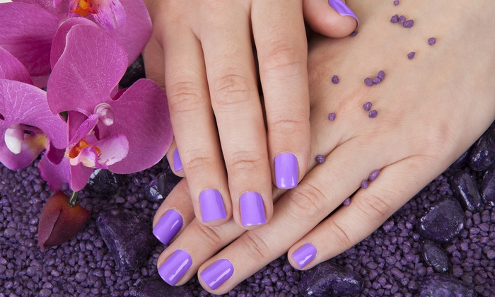 Mena & Co Salon - Modesto: One Aveda No-Chip Manicure with a Pedicure or Two Aveda Signature Manicures at Mena & Co. Salon (Up to 62% Off)