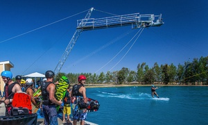 Wake Island: Wakeboarding Cable Pass, Lesson for Four with Cable Pass, or Party for Up to 15 at Wake Island (Up to 51% Off).
