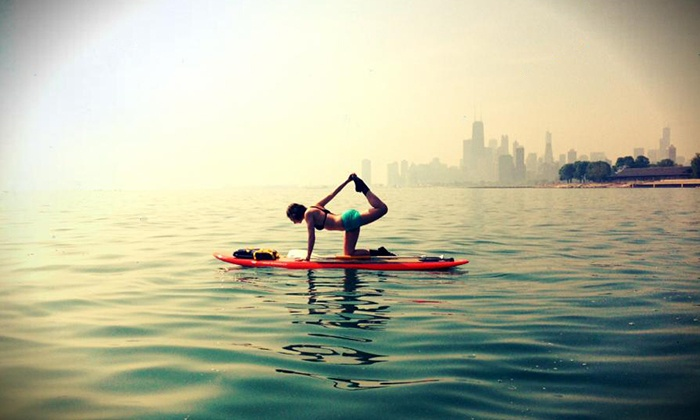 Royal Pigeon Yoga - Chicago: One or Five Private Stand-Up-Paddle-Board Yoga Classes, or Five Group Classes from Royal Pigeon Yoga (Up to 52% Off)