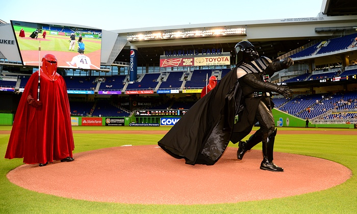Miami Marlins vs. Atlanta Braves - Marlins Park: Marlins Game and Star Wars Night with Star Wars T-Shirt at Marlins Park on Saturday, September 6 (Up to 51% Off)