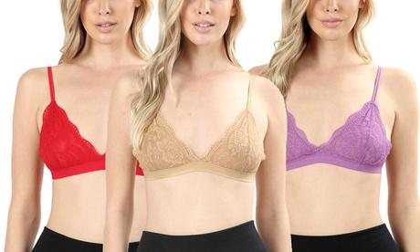 Women's Mesh Lace Triangle Bralette b4ebd57d-7ef2-4a1c-9749-9bacf287340c