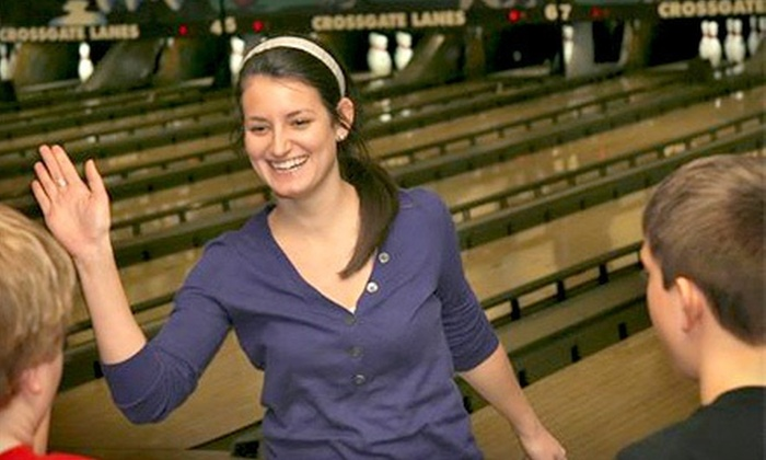 Crossgate Lanes, Stone Lanes, and Eastgate Lanes - Multiple Locations: Two-Hour Bowling Party for Up to Six at Crossgate Lanes, Stone Lanes, or Eastgate Lanes (Up to Half Off)