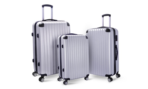 $129.95 for a Three Piece Milano Hard Case Luggage Set with Combination Locks (Dont Pay $499)