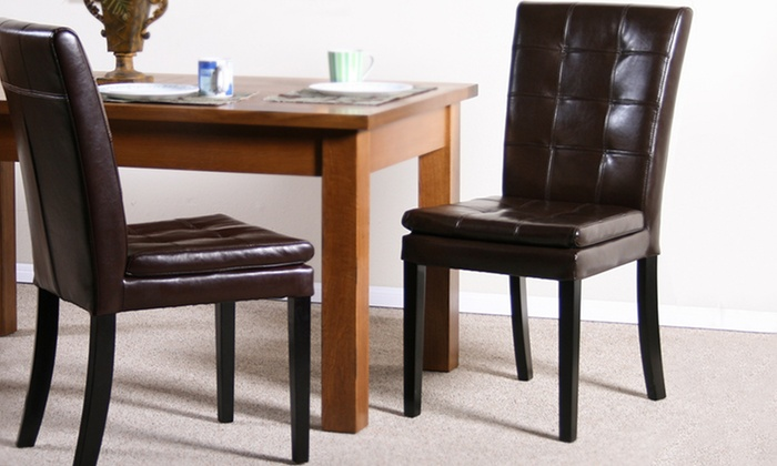 Set of Two Barrington Leather Dining Chairs: Set of Two Barrington Leather Dining Chairs. Multiple Colors Available. Free Returns.