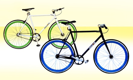 groupon daily deal - Fixed Gear Bikes. Multiple Heights Available.