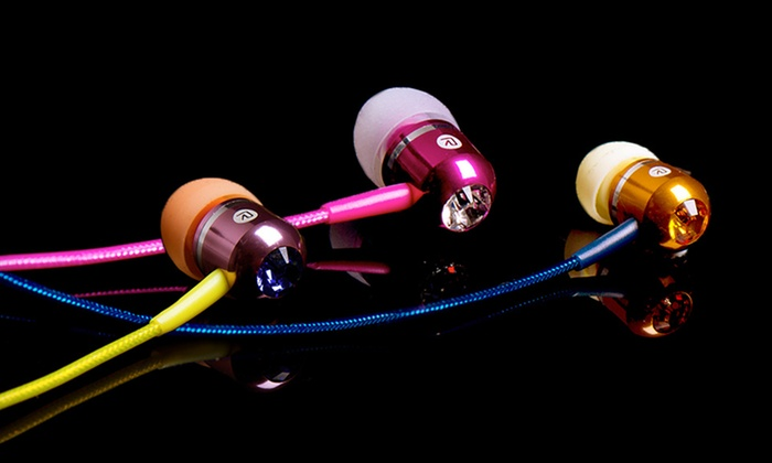 BassBuds Earbuds: $19 for BassBuds Earbuds with Swarovski Elements ($85 List Price). 12 Colors Available. Free Shipping and Free Returns.