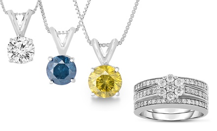 1-Carat TW Diamond Ring or Pendant Necklace. Multiple Styles from $199.99—$799.99.